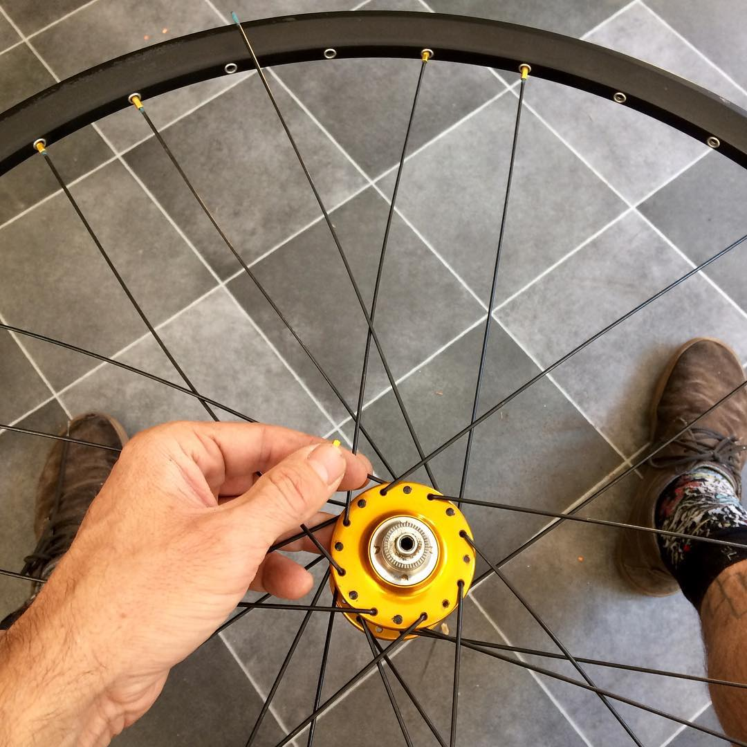 Lacing a wheel for a customer
