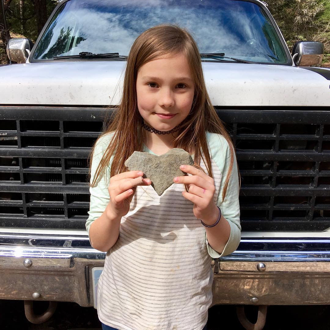Today we got stuck in the snow, chased waterfalls, played with sparkly dirt, and found a heart-shaped rock
