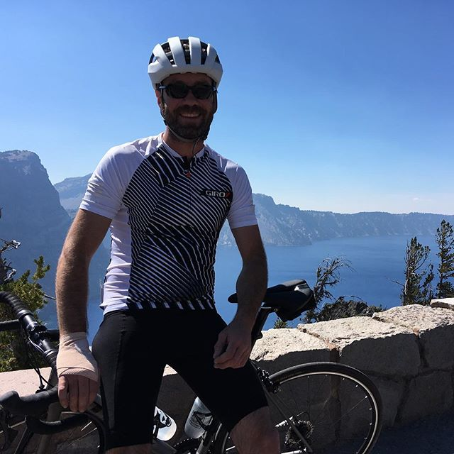 Rode the rim of Crater Lake— longtime desire realized